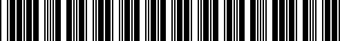 Barcode for 36112219605