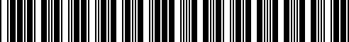 Barcode for 51192361666