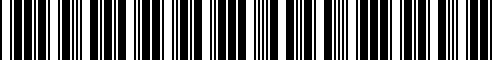 Barcode for 84212365785