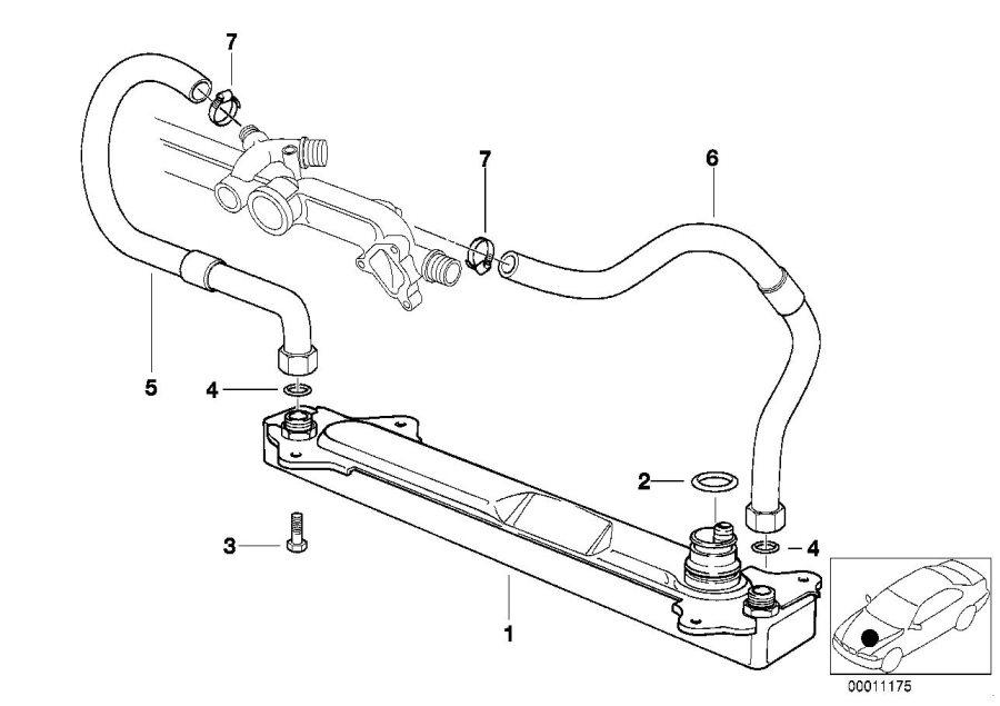 Bmw 740il Oil Cooler  Cooling  Transmission  Radiator - 17221723916