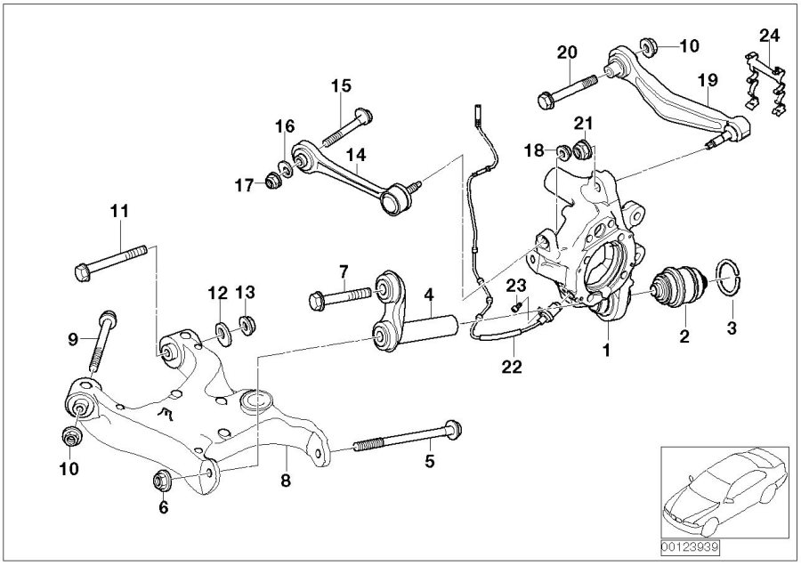 2002 Bmw 530i Repair Kit  Wishbone  Left  Value Line