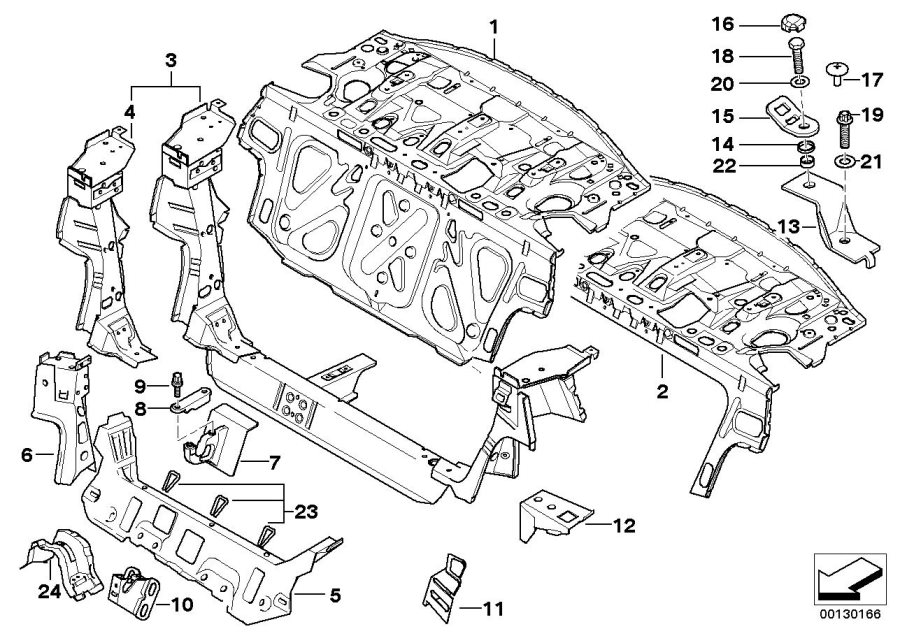 2002 Bmw 325ci Bracket For Propel  Shaft Centre Bearing