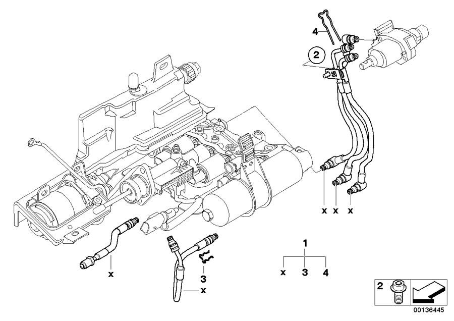 2006 Bmw 650i Torx Bolt  M6x16  Smg  Hydraulic  Pump - 23017507124
