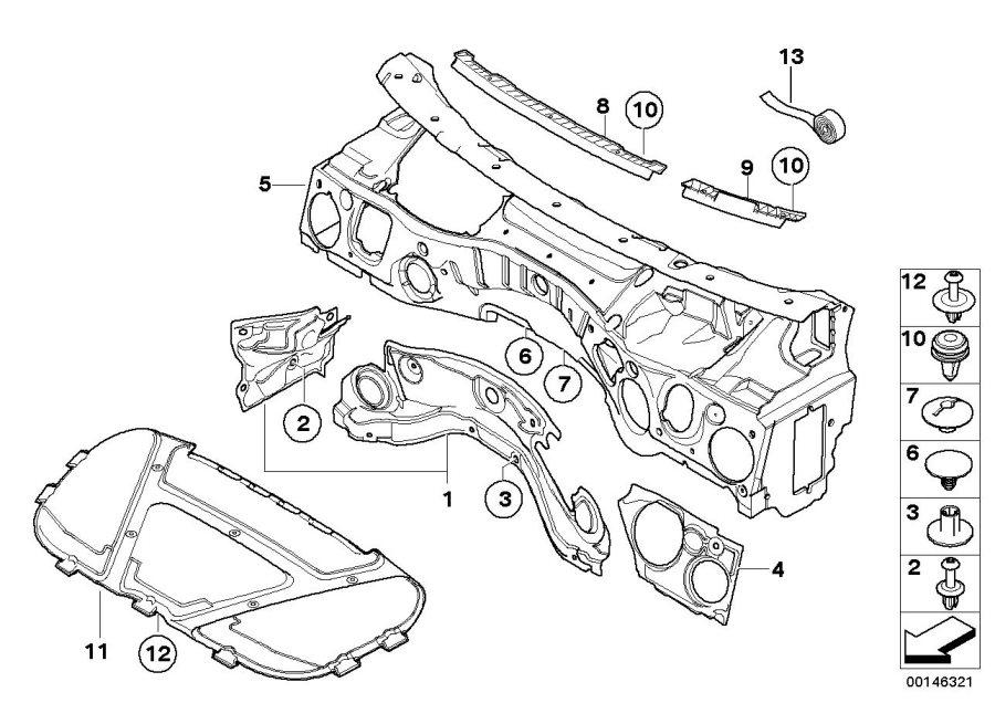 51489141036 - Sound Insulating Engine Hood  Trim  Insulation  Front  Coup U00e9  Body