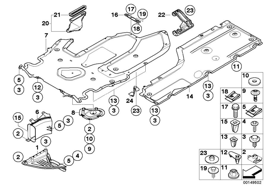 51757203956 - Underfloor Coating Center  Engine