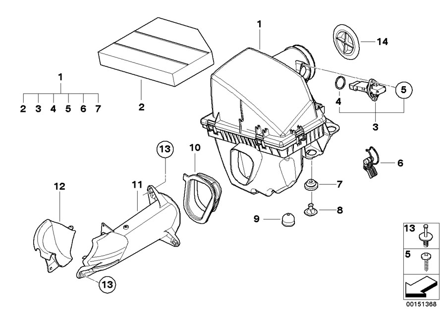 13717521033 - air filter element  intake  service  oil