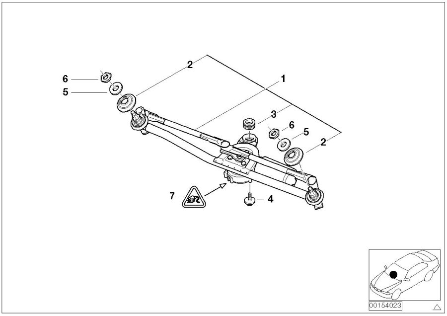 2004 bmw 325ci linkage wiper system with motor lamp. Black Bedroom Furniture Sets. Home Design Ideas