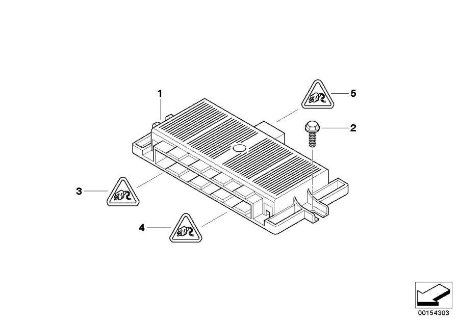 Bmw X5 Footwell Module 3  Control - 61356801294