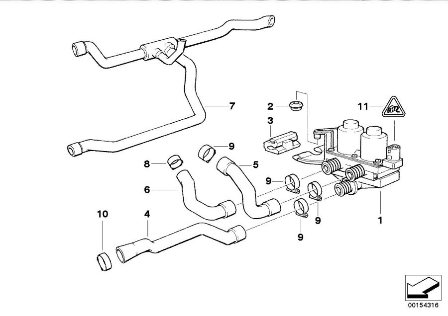 11531738055 - Hose For Radiator And Engine Return  Water  Cooling  Hoses