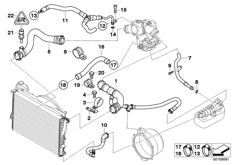 11531711885 - Coolant Return Pipe  Engine  Cooling