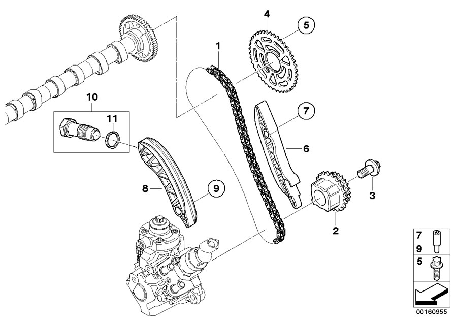 2015 Bmw X3 Chain Tensioner  Timing