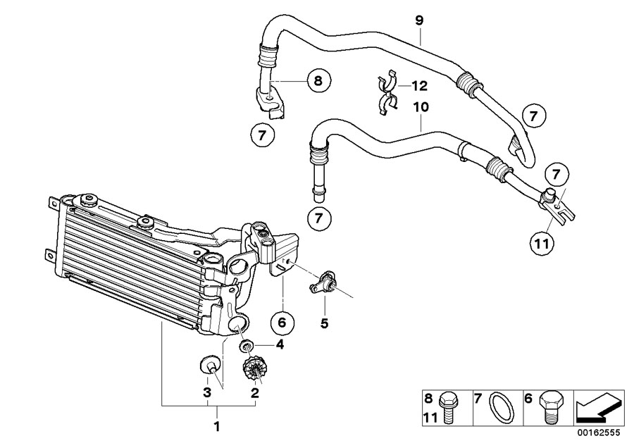Bmw X1 Oil Cooler - 17227521376