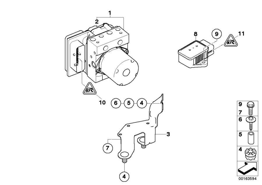 2006 Bmw 530i Buchsenkontakt Elo-power Mit Kabel  0  2-0  5 Mm U00b2  Dxc - 61130006624