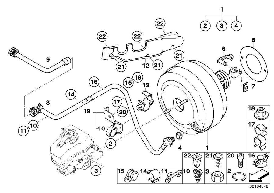 Bmw 528i Vacuum Pipe  Brake  Unit - 11667550892