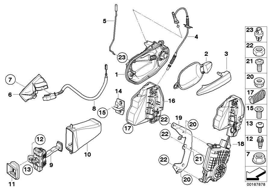 2003 Bmw 530i Torx-countersunk Head Screw  Isa M8x28  Door  Rex  Locking - 51217130110
