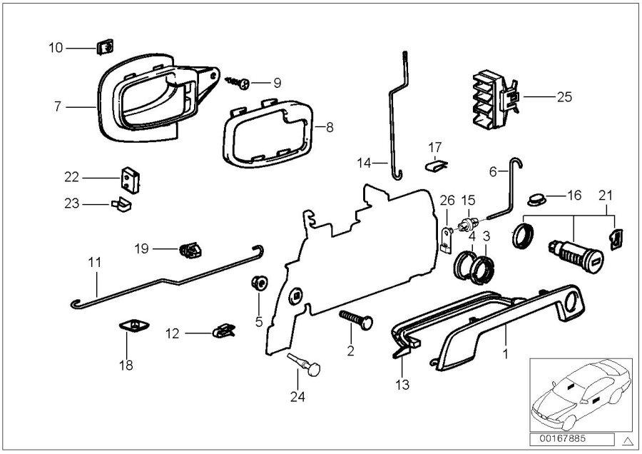 51218203099 - Repair Kit Lock Cylinder Left  Door  Front  Body