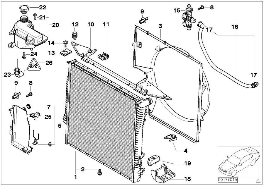 17101439110 - Mounting Plate  Radiator
