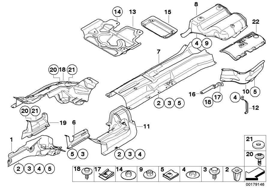 Bmw 545i Heat Insulator Rear Silencer  Suspension