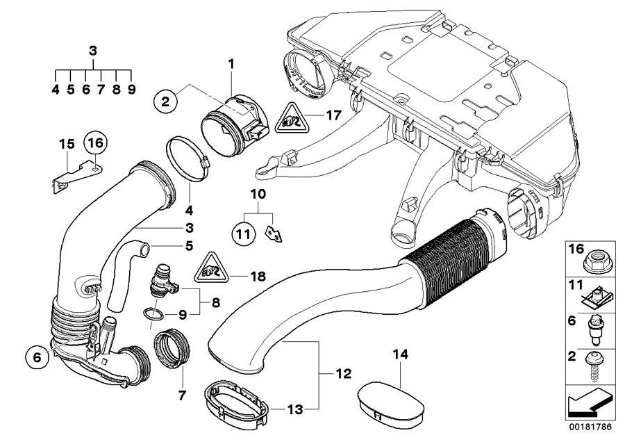 13717808158 - Hose  Air  Fuel  Intake