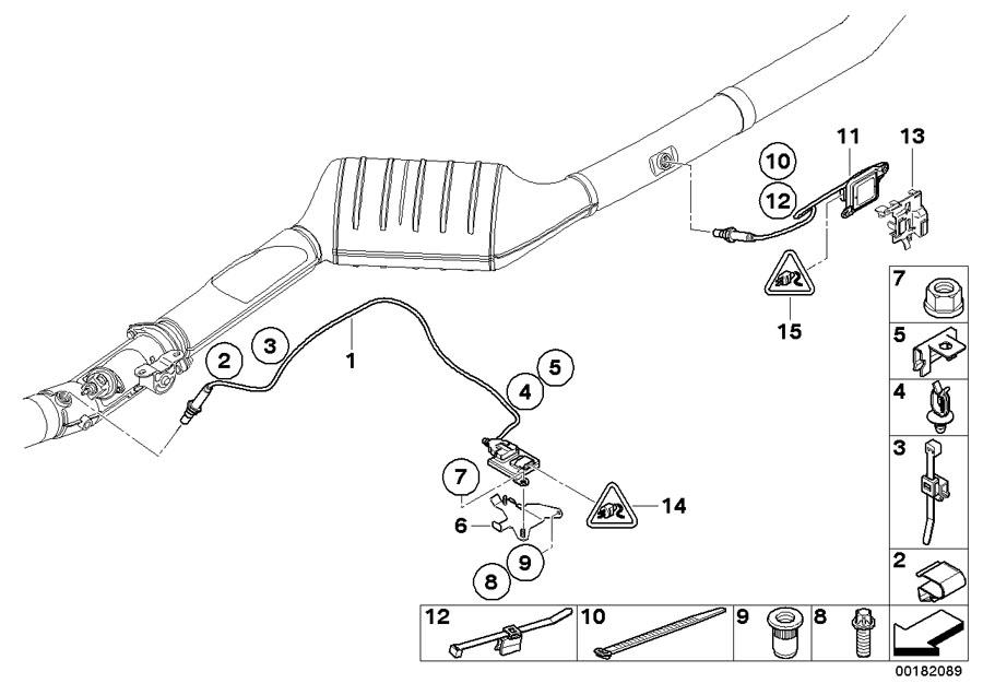 13628589846 - NOx sensor. L=915MM - Genuine BMW Part