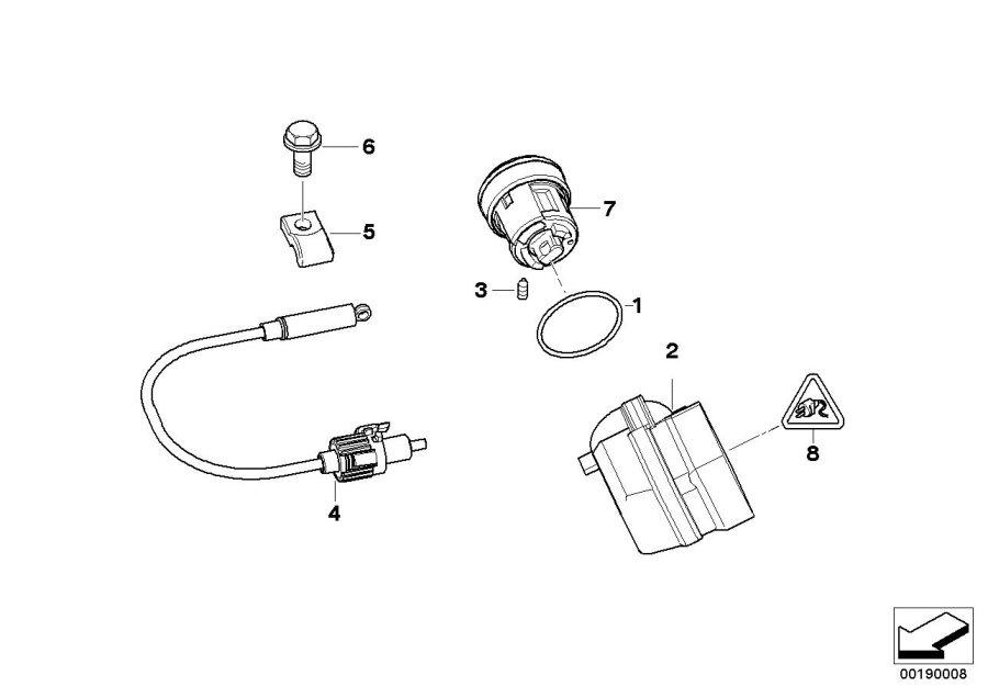 Bmw 328i Lock  With Key Code   Steering  Column  Switch