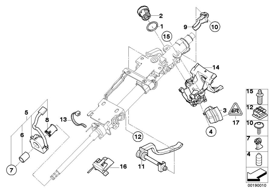 32307841205 - Repair Kit  Steering Angle Sensor  Column