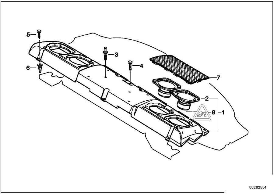 BMW 740i Subwoofer top-hifi system - 65138352453 - Genuine ...