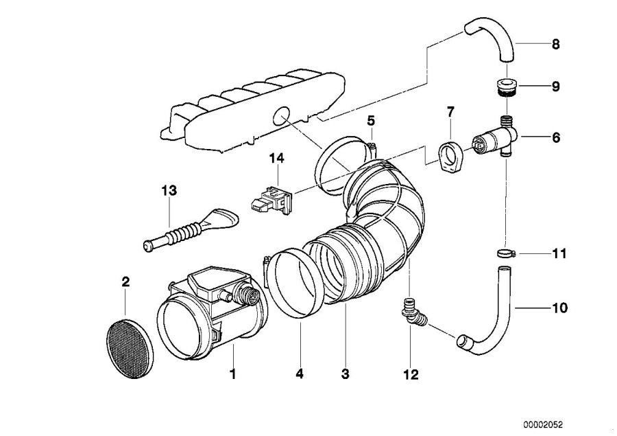13621730033 - Mass Air Flow Sensor  Ms40  Fuel  System