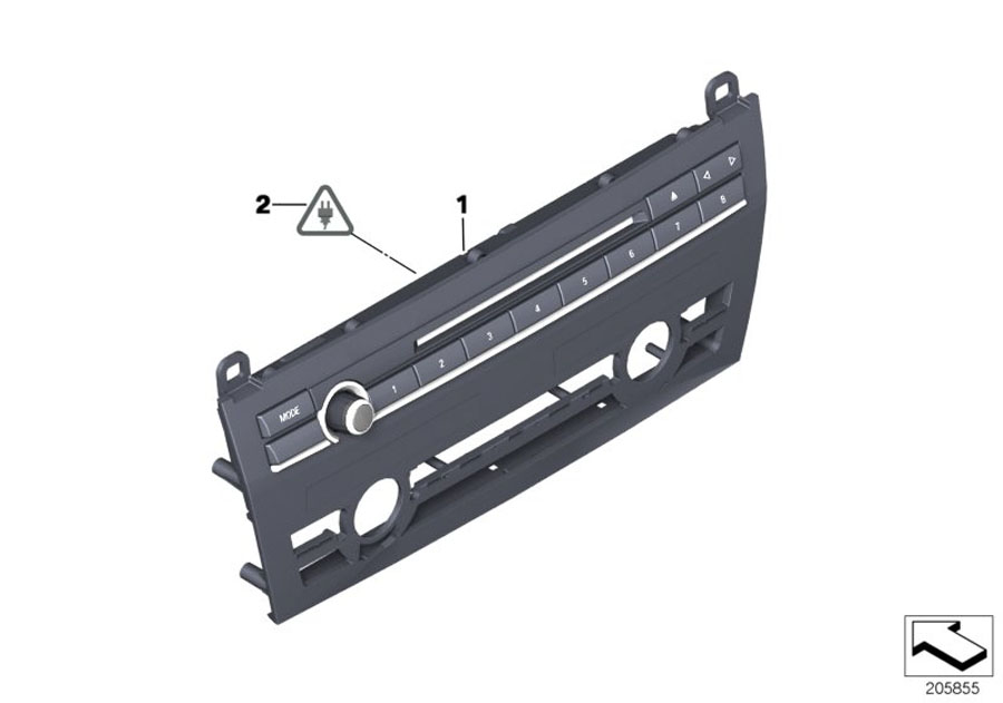 61319328414 - Repair Kit  Radio And A  C Control Panel  Alpina
