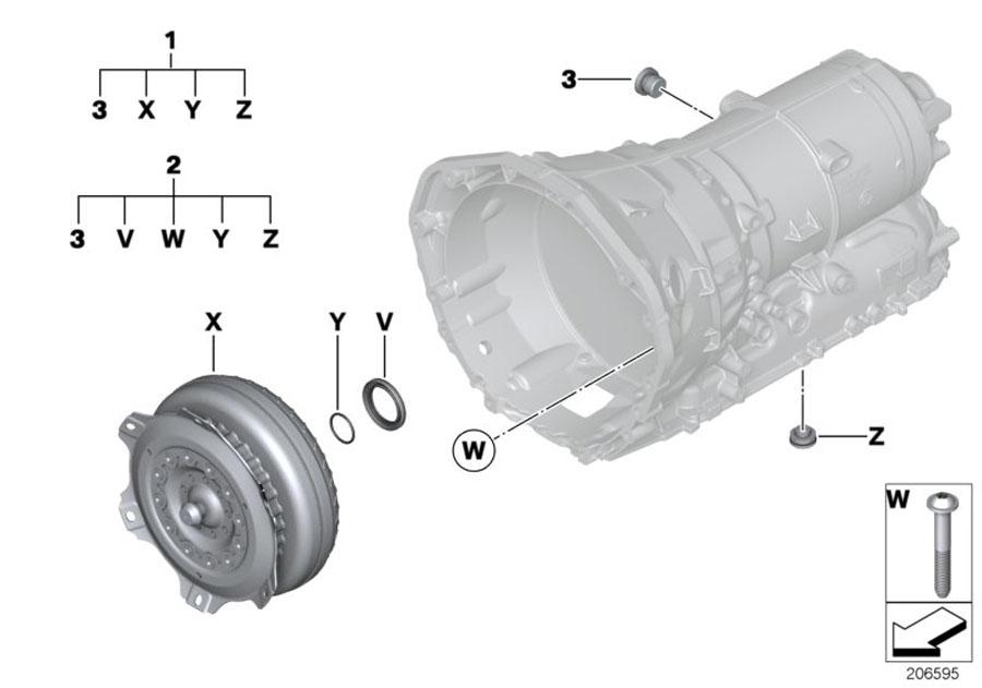 Bmw X3 Repair Kit For Torque Converter  Ga8hp45  Transmission - 24407544944