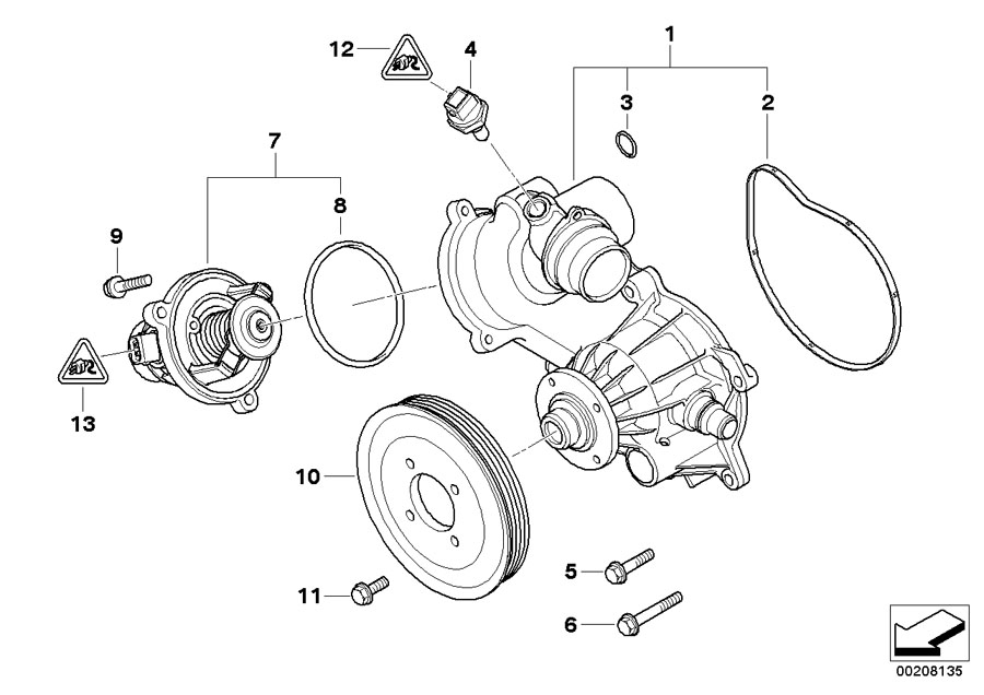 11517586779 - coolant pump  mechanical  engine  cooling