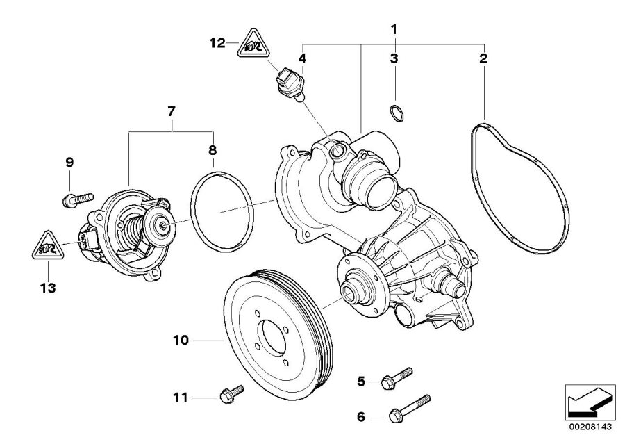 11537586885 - thermostat  alpina  engine  cooling