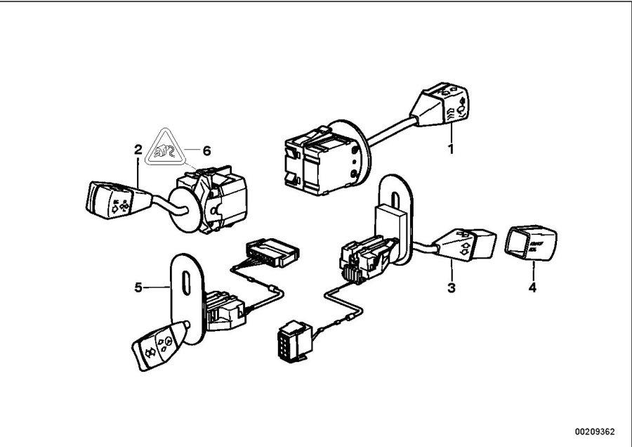 2000 BMW Z3 Wiper switch - 61318360915 - Genuine BMW Part