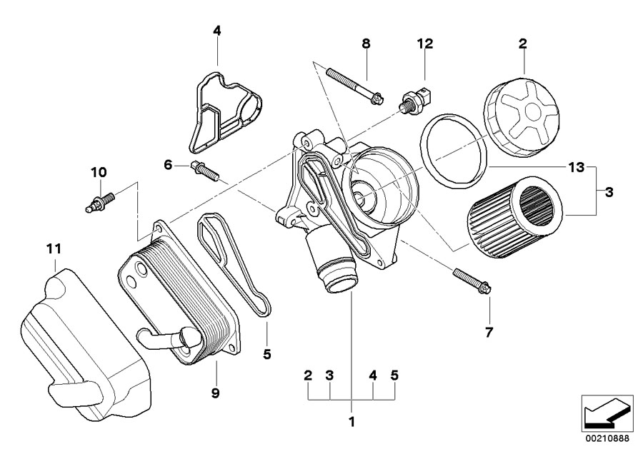 11428637820 - gasket  oil  filter  lubrication