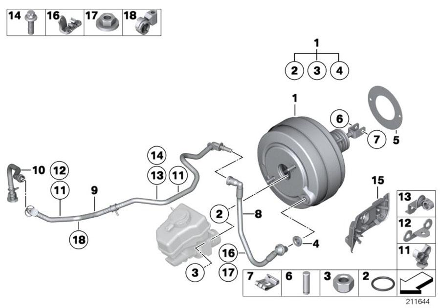 2014 BMW X1 Asa-bolt. M8x17.5-al. System, unit, brake ...