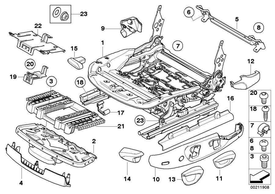 52107157409 - cover  belt catch left  beige  seat  front