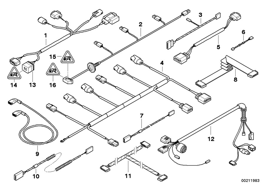 61129122278 - Cable Set  Sensors  Active Front Steering  Sets
