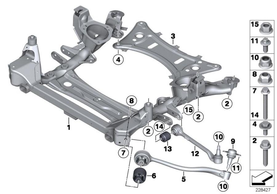 2014 Bmw X3 Reinforcement Plate  Axle  Suspension - 31106786944