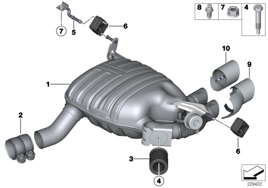 18307592980 - Holder  Rear  System  Exhaust