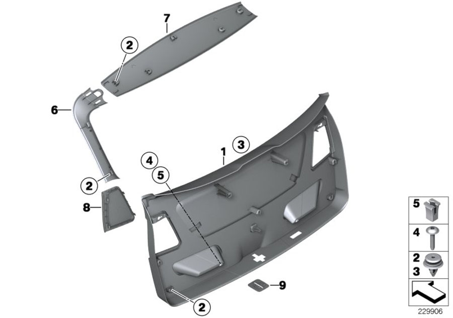 Bmw X3 Cover  Catch Bracket  Beige  Trim
