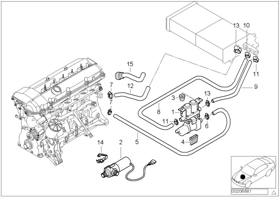 64218387521 - Hose For Radiator And Engine Return  Water  Cooling  Hoses