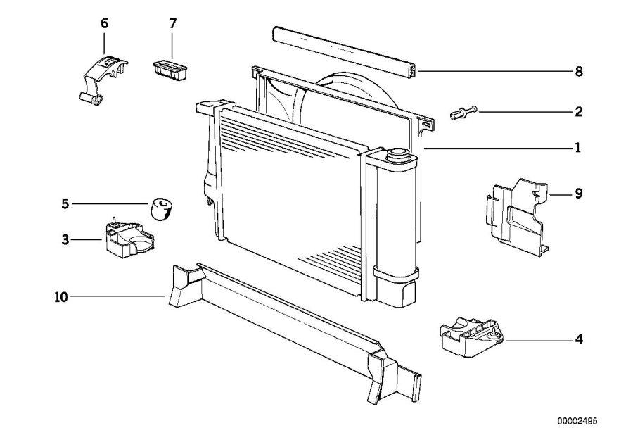 17111723031 - Fan Shroud  A 550mm  Radiator
