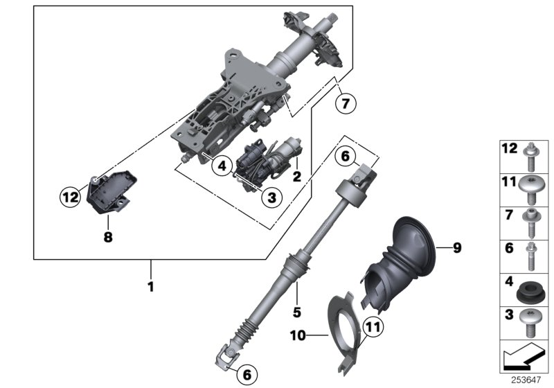 Bmw 535i Torx Bolt  M8x33  Steering  Column  Suspension