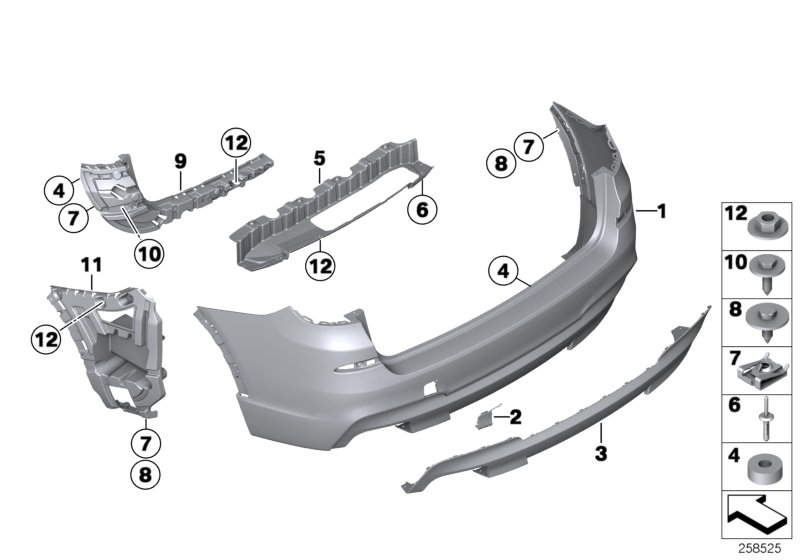 61129304732 - Wiring Harness Rear End  Trim