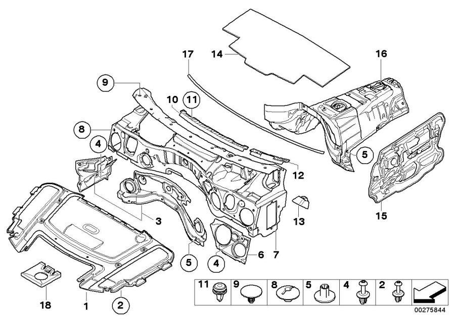 Bmw 328i Sound Insulating Engine Hood  Trim  Insulation