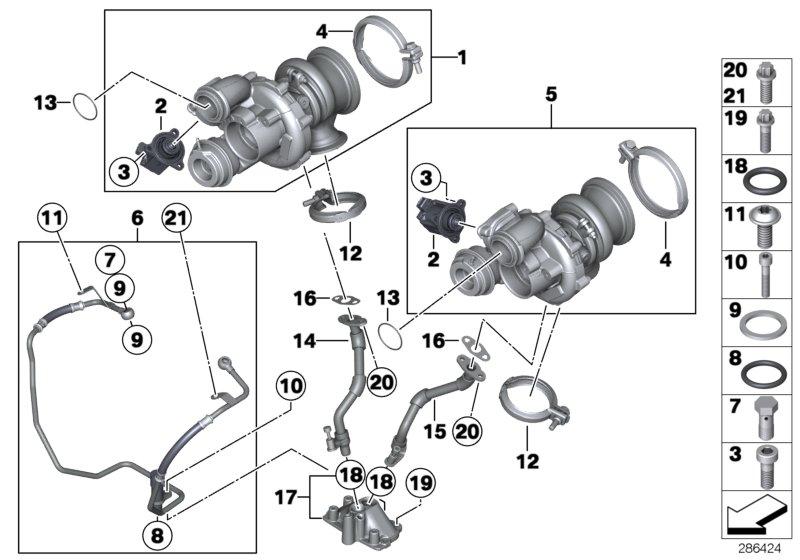 Bmw 750i Oil Pipe  Alpina  Engine  Rid