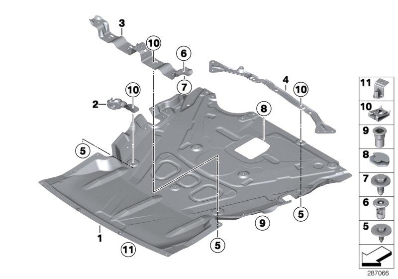 Bmw 430ix Engine Bay Encapsulation - All-wheel - 51757241818