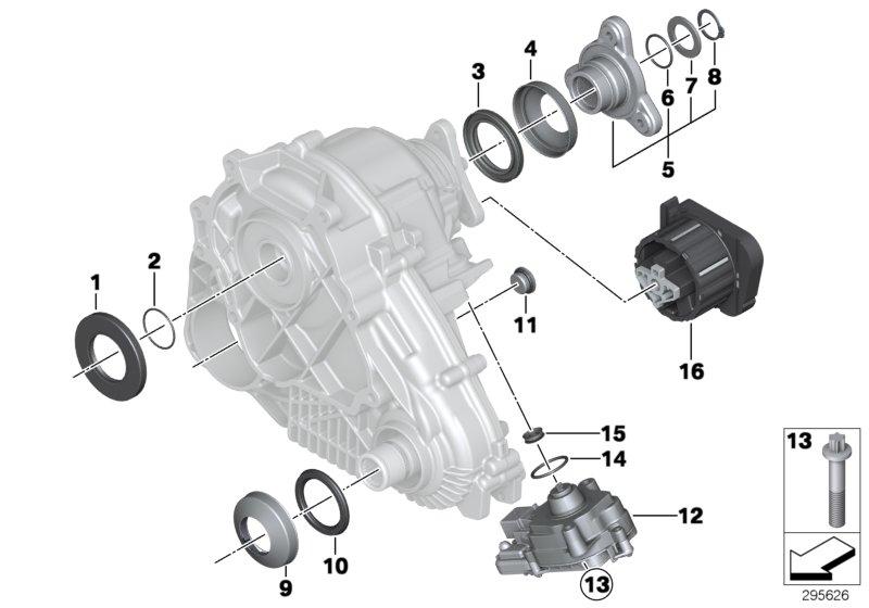 Bmw X5 Longitudinal Torque Module  Transfer  Case  Atc - 27607643762