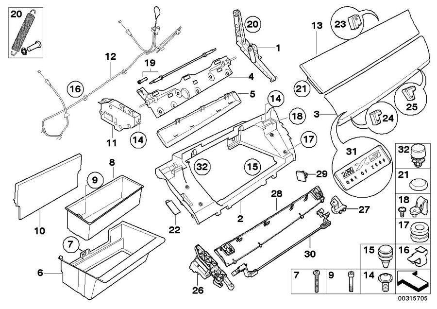 2009 Bmw X5 Insert  Housing  Glovebox - 51166977774