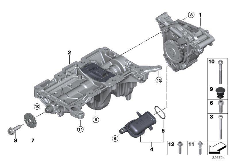 2011 Bmw 328i Accessories >> BMW 328i Counterbalance shaft unit. Lubrication, System - 11277632111 - Genuine BMW Part